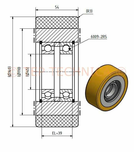 Dambach Guide Roller Wheel