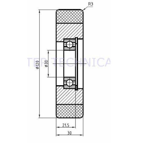 Vulkollan© Guide Roller - Technical Diagram