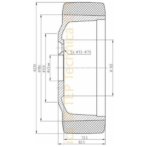 Polyurethane Drive Load Wheel - Technical Diagram