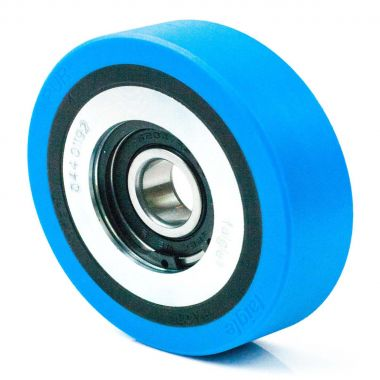 100/25/14/20 Polyurethane Escalator Wheel Roller with 6204 2RS Ball Bearing
