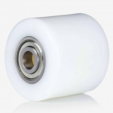 70/66/70/20 NYLON PALLET ROLLER WITH 6204 ZZV BALL BEARINGS