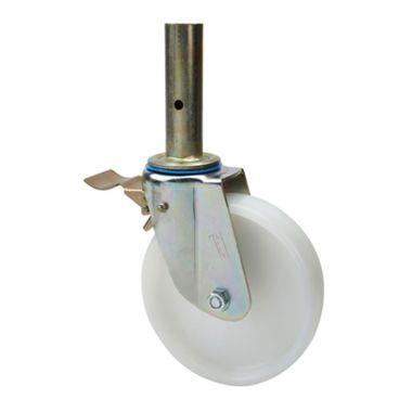 200/50 Scaffolding Wheel Castor with Nylon Wheel (40mm tube fitting)