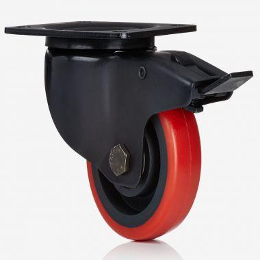 100/40 Pevodyn Soft Swivel/Lock Transport Castor